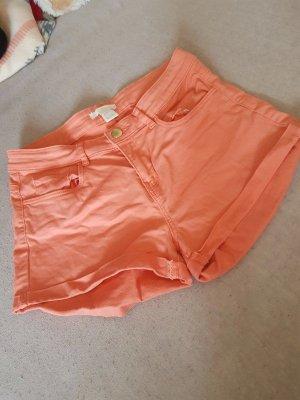 H&M Krótkie szorty brzoskwiniowy-łosowiowy