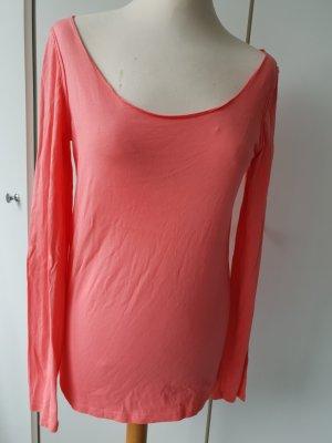 Koralle farbenes Langarm Shirt