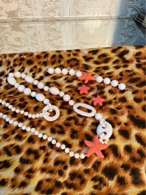 Shell Necklace white-salmon
