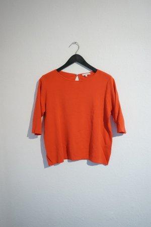 Opus Short Sleeve Sweater salmon-bright red