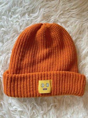 Monki Knitted Hat dark orange