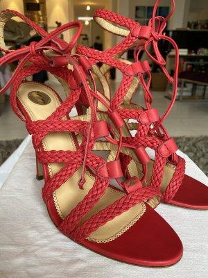 Elisabetta Franchi Sandalo con cinturino rosso chiaro-rosso