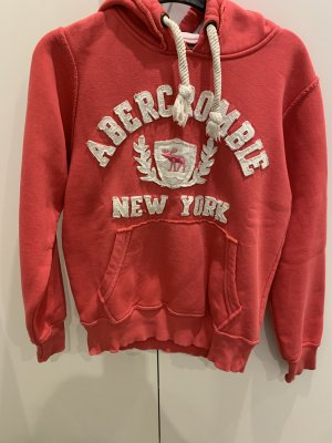 Korallenroter Abercrombie & Fitch Hoodie