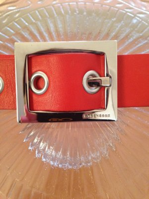 Strenesse Leather Belt red-bright red leather