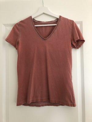 Korallenrotes T-Shirt von Closed in used Optik - neuwertig
