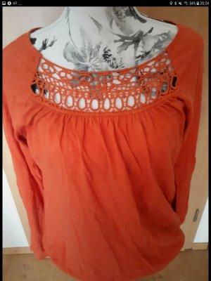 Bon Prix Gehaakt shirt roodbruin
