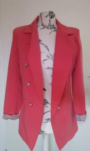 Korallroter Blazer made in italy L