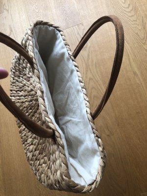 Basket Bag camel-natural white