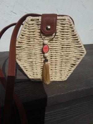 Primark Basket Bag oatmeal-cognac-coloured