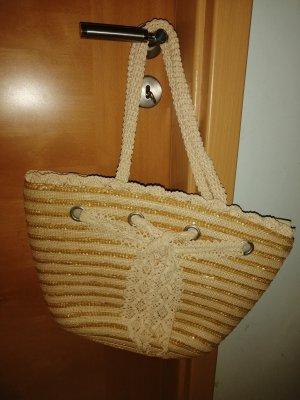 Torebka koszyk piaskowy brąz-brązowy