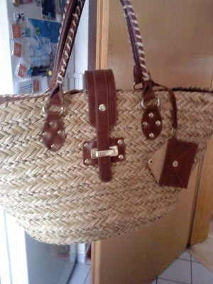 HM Basket Bag sand brown-cognac-coloured