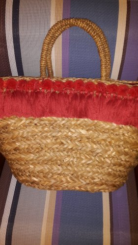 Bolso tipo cesta rojo