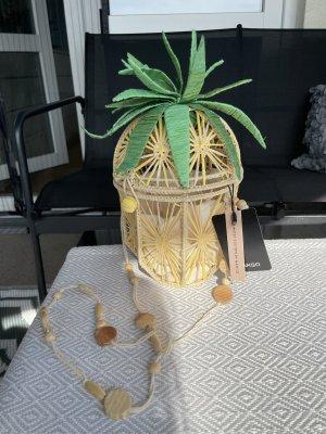 Mango Premium Torebka koszyk Wielokolorowy