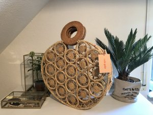 Cult Gaia Basket Bag beige-cream
