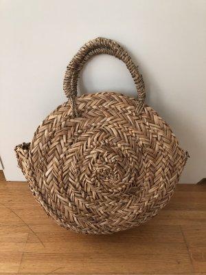 Pull & Bear Bolso tipo cesta marrón arena