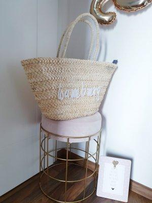 Bolso tipo cesta blanco-crema