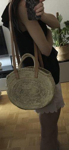 Etsy Bolso tipo cesta beige claro-marrón claro tejido mezclado