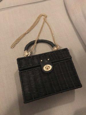 Zara Bolso tipo cesta negro-color oro