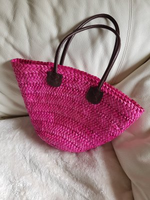 Ohne Basket Bag brown-pink