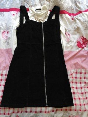 Primark Vestido tipo overol negro-color plata