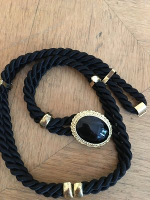 Braided Belt black-gold-colored mixture fibre