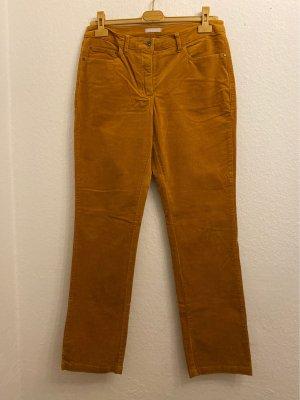 Marco Pecci Jeansowe spodnie dzwony cognac Bawełna