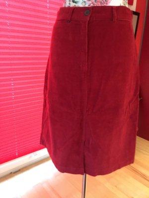 Falda de tubo rojo ladrillo Algodón