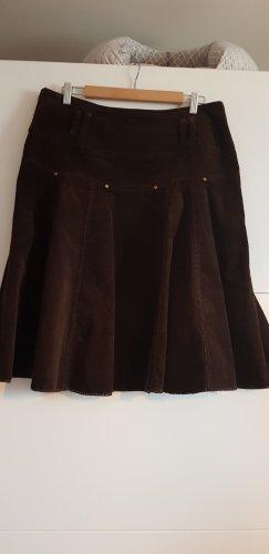 Promod Spódnica midi ciemnobrązowy