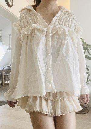 Koreanische Linen Bluse