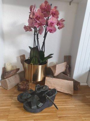 kork - ease Sandalias de tacón con plataforma negro