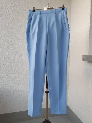 Benetton High Waist Trousers cornflower blue polyester