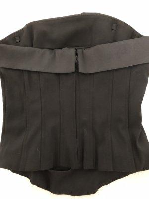 H&M Corsage Top black mixture fibre