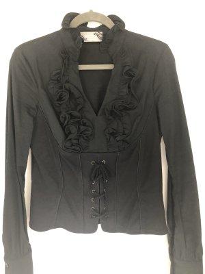 Korsagen- Bluse mit kleinen wenigen Rüschen