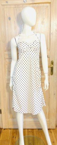Privacy Sukienka z gorsetem w kolorze białej wełny-czarno-brązowy