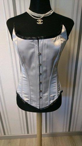 Corsage argenté-noir tissu mixte