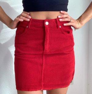 Topshop Miniskirt dark red
