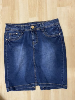 Kosi Jeans Rock blau S 36