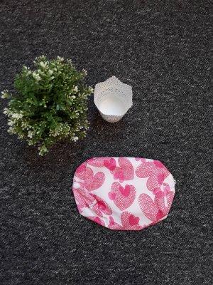 Borsa di tela bianco-rosa