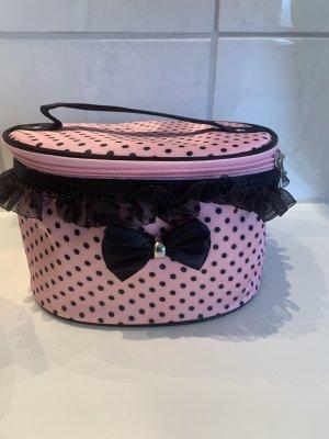 Kosmetiktasche rosa schwarz