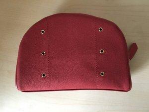 Bolso tipo pochette rojo oscuro-color oro