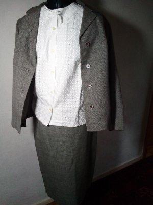 Vintage Traje para mujer gris
