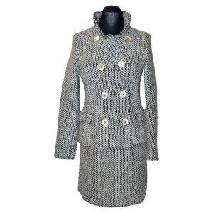 Bruno Manetti Ladies' Suit silver-colored-white mixture fibre