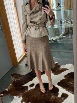 Akris punto Ladies' Suit brown-natural white