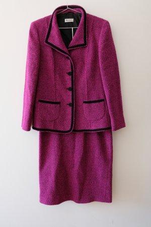 Antonette - Franz Haushofer Ladies' Suit magenta-black wool