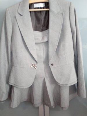 Damespak grijs-bruin