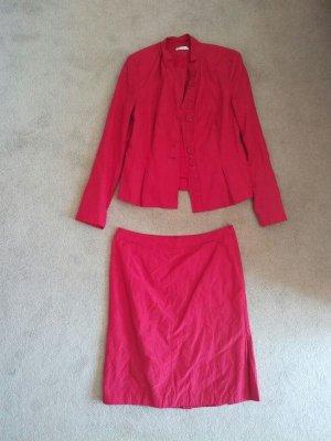 Kostüm blazer mit Rock rot