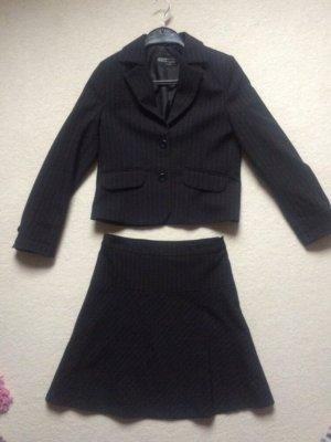Kostüm Blazer + Rock schwarz