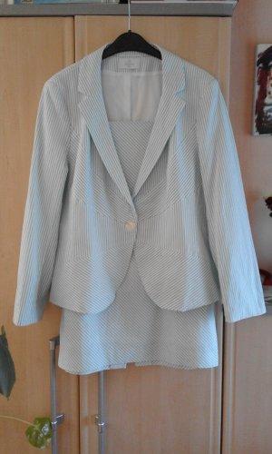 Elégance Paris Kostium jasnoniebieski-biały Bawełna