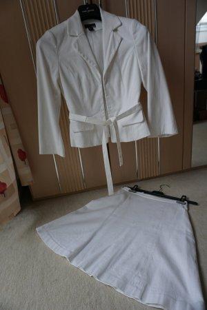 Kostüm, Hochzeitskostüm weiß H&M Gr. 34 waffelpique