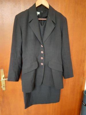 Kostüm, Kleid (ärmellos) mit Blazer, Gr. 38